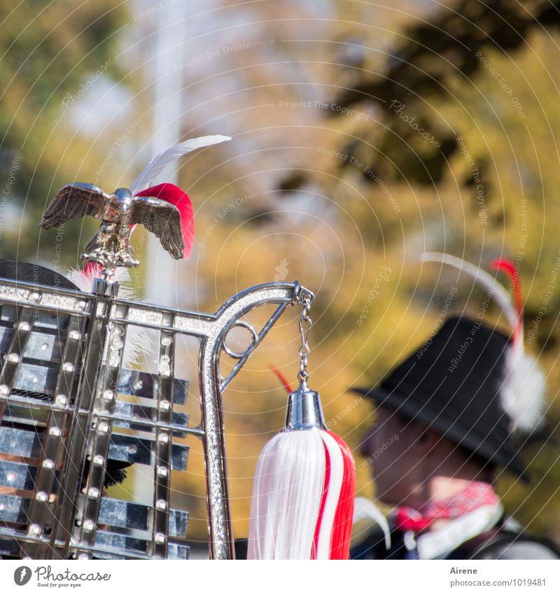 selbstgemacht   Musik Feste & Feiern Jahrmarkt Festzug Parade Mensch feminin Kopf Musiker Glockenspiel Metallophon Schlaginstrumente Musikinstrument Hut