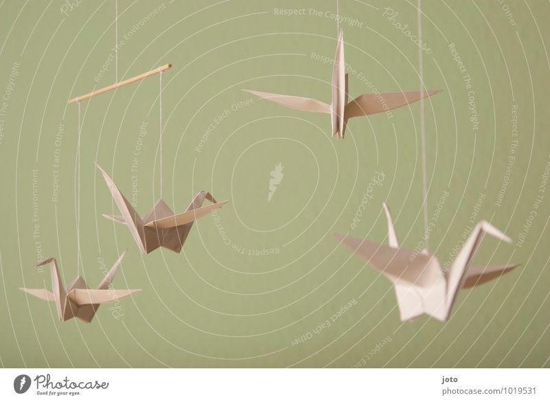 origami Design Zufriedenheit Erholung ruhig Taufe Kindheit Tier Vogel Papier fliegen hängen frei maritim modern nachhaltig Gelassenheit Mobilität träumen