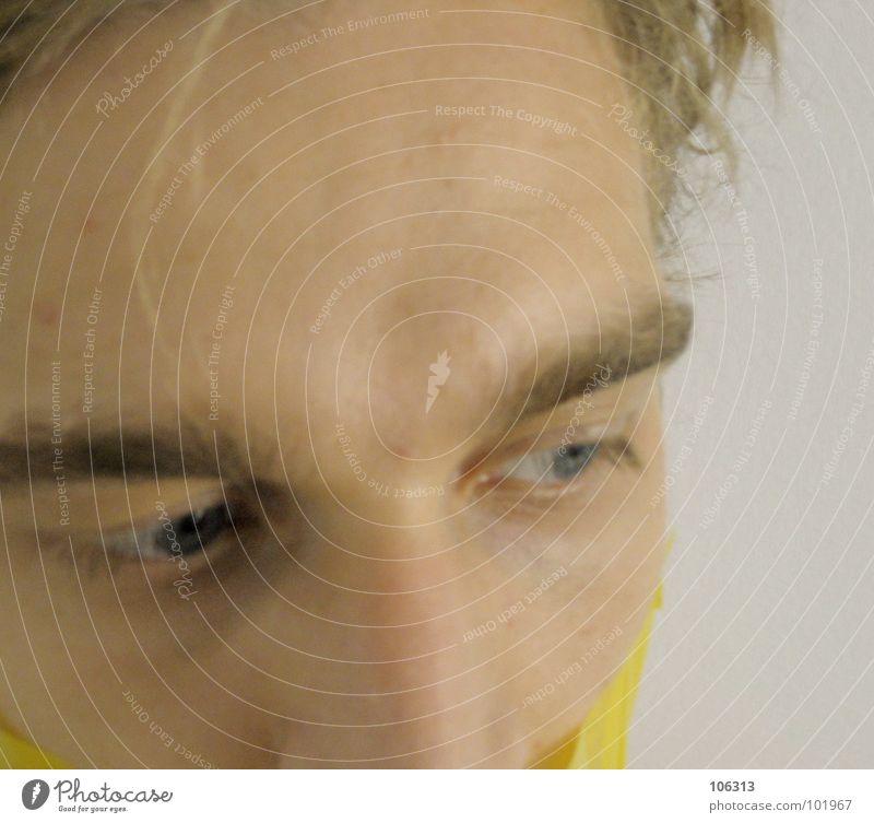AUSDRUCK > SCHÄRFE = 100% [0125/06] Mensch Mann Natur schön ruhig Gesicht Ferne gelb sprechen Haare & Frisuren Kopf Traurigkeit Kunst Arme außergewöhnlich Mund