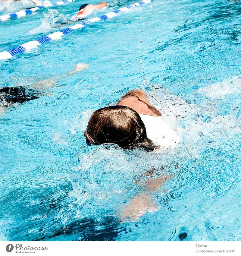 krauler Wasser Sport Bewegung Haare & Frisuren Gesundheit Zeit Eisenbahn Sport-Training Sportveranstaltung Wassersport diszipliniert Kraulstil schwimmen überholen Triathlon