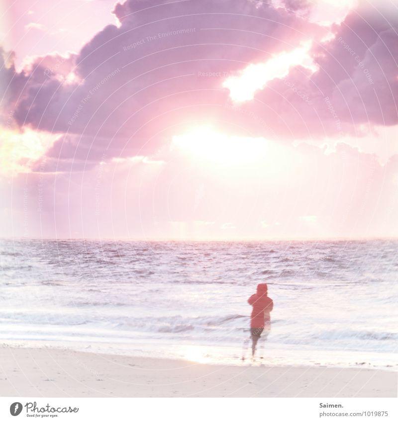 Tschüss, liebe Anne! Und immer schön der Sonne entgegen! Mensch Frau Himmel Natur Ferien & Urlaub & Reisen Wasser Erholung Meer Landschaft Wolken Strand