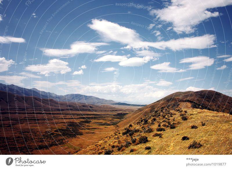 pellenor fields forever. Natur Landschaft Himmel Sommer Schönes Wetter Hügel Berge u. Gebirge Fernweh Neuseeland Southern Alps Auenland Der Herr der Ringe