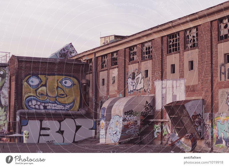 :-D Stadt Fenster Wand Graffiti Architektur Mauer Kunst Lifestyle Fassade Freizeit & Hobby Design Kultur Dach Zeichen Grafik u. Illustration Jugendkultur