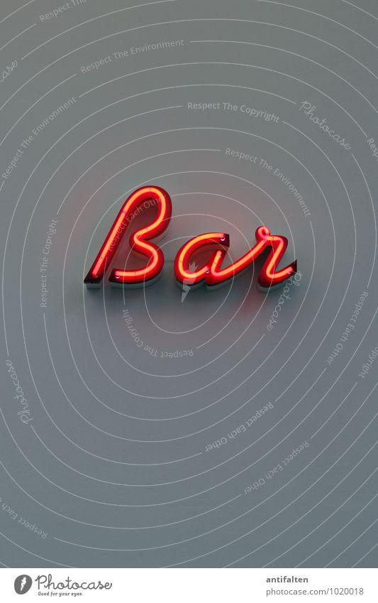 Bar rot Freude Beleuchtung grau Feste & Feiern Party Lifestyle Musik Schilder & Markierungen Geburtstag Schriftzeichen Hinweisschild trinken Veranstaltung Wort