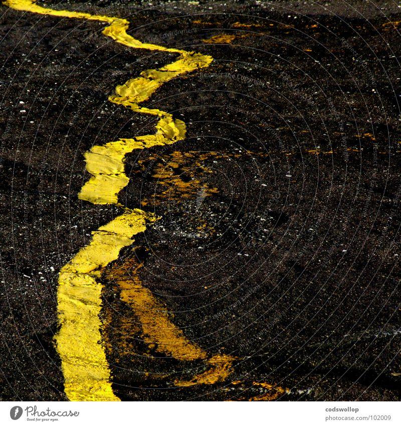 gelbverschiebung schwarz gelb Bewegung Linie Asphalt Physik Wissenschaften Weltall Verkehrswege Parkplatz Versuch Straßenbelag Himmelskörper & Weltall Tilt-Shift Galaxie Frequenz