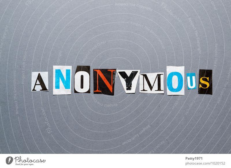 Anonymous Einsamkeit Schriftzeichen geheimnisvoll Kontrolle Identität anonym Arbeitslosigkeit
