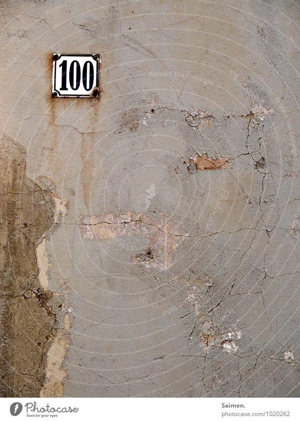 alterswunsch Haus Mauer Wand Zeichen Ziffern & Zahlen Schilder & Markierungen dreckig Verfall Vergänglichkeit Riss Strukturen & Formen Hausnummer