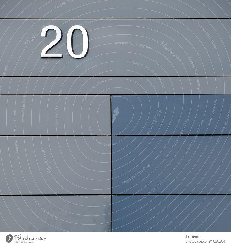 twäntibluh Wand Mauer Linie Fassade Zeichen Ziffern & Zahlen 20 Symmetrie liniert Hausnummer