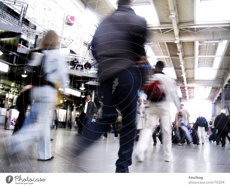 beruhigend hektisch Ferien & Urlaub & Reisen Bewegung laufen Verkehr Bahnhof Eile