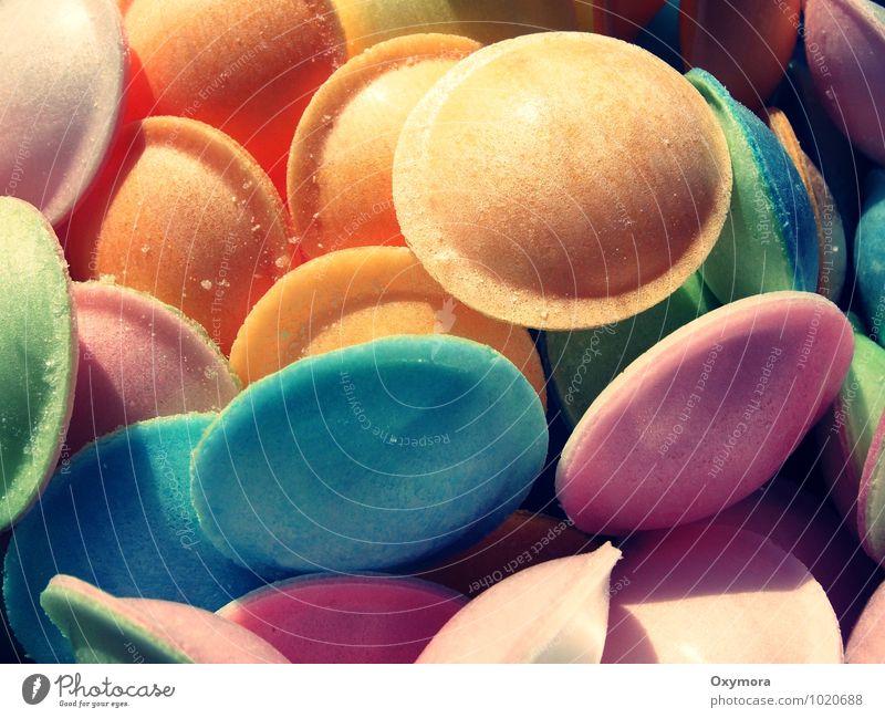 UFO Invasion Lebensmittel Süßwaren Feste & Feiern Karneval Geburtstag Essen retro rund blau mehrfarbig gelb grün orange rosa Freundschaft Völlerei Genusssucht