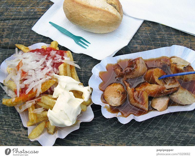 3-Gänge-Menü Lebensmittel Fleisch Wurstwaren Milcherzeugnisse Getreide Teigwaren Backwaren Brötchen Pommes frites Ernährung Mittagessen Fastfood Fingerfood