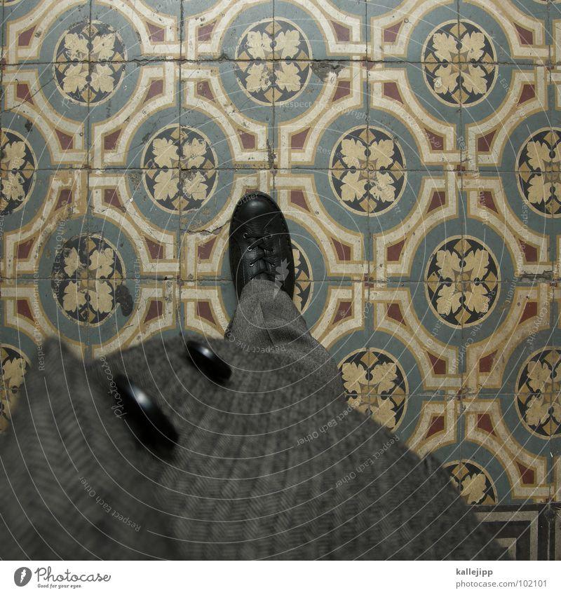 musterung Ladengeschäft Anzug grau Muster Tanzfläche rechts Schuhe Knöpfe Hose Jacke Stoff Bügelfalte fein Ausgang Uniform passend Arbeit & Erwerbstätigkeit