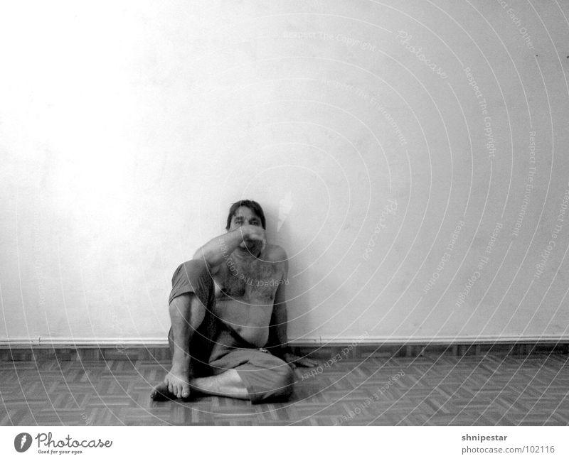 Der beste Mensch auf der Welt 2 Mann Erholung dunkel Wand Denken hell maskulin Erfolg sitzen kaputt Umzug (Wohnungswechsel) Wut Handwerk Leipzig Hilfsbedürftig