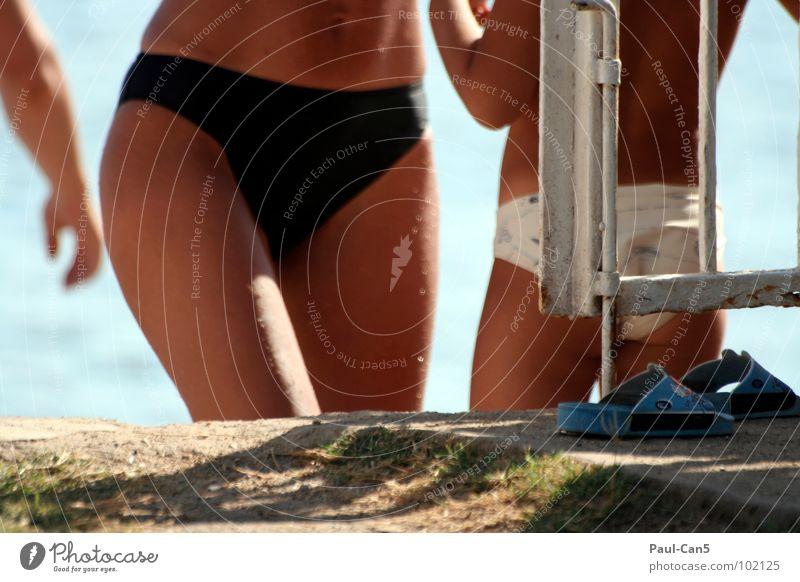 sommerfreuden Frau Meer Sommer Ferien & Urlaub & Reisen Wärme frei Mutter Familie & Verwandtschaft Freizeit & Hobby dünn Physik heiß Bikini Tochter Eltern