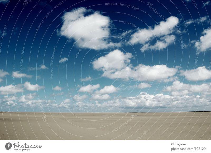 Titellos Himmel Meer blau Strand Wolken dunkel Sand Küste Wetter fliegen groß Horizont Insel tief ziehen rollen