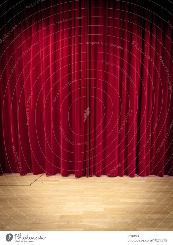 Die Bühne der Welt rot Neugier Show Veranstaltung Medien Theater Vorfreude Vorhang Kino Entertainment Oper Faltenwurf Samt