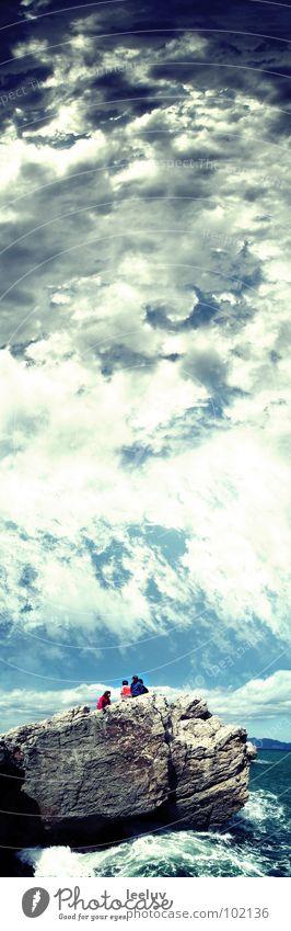 Kinder des Himmels Wasser Meer blau Wolken Stein Wetter Felsen Unendlichkeit Spanien