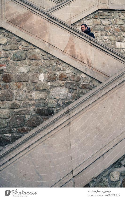 auf, auf.. Mensch Ferien & Urlaub & Reisen Ferne Architektur Mauer Freiheit Design Tourismus Perspektive Ausflug Europa Abenteuer Burg oder Schloss sportlich