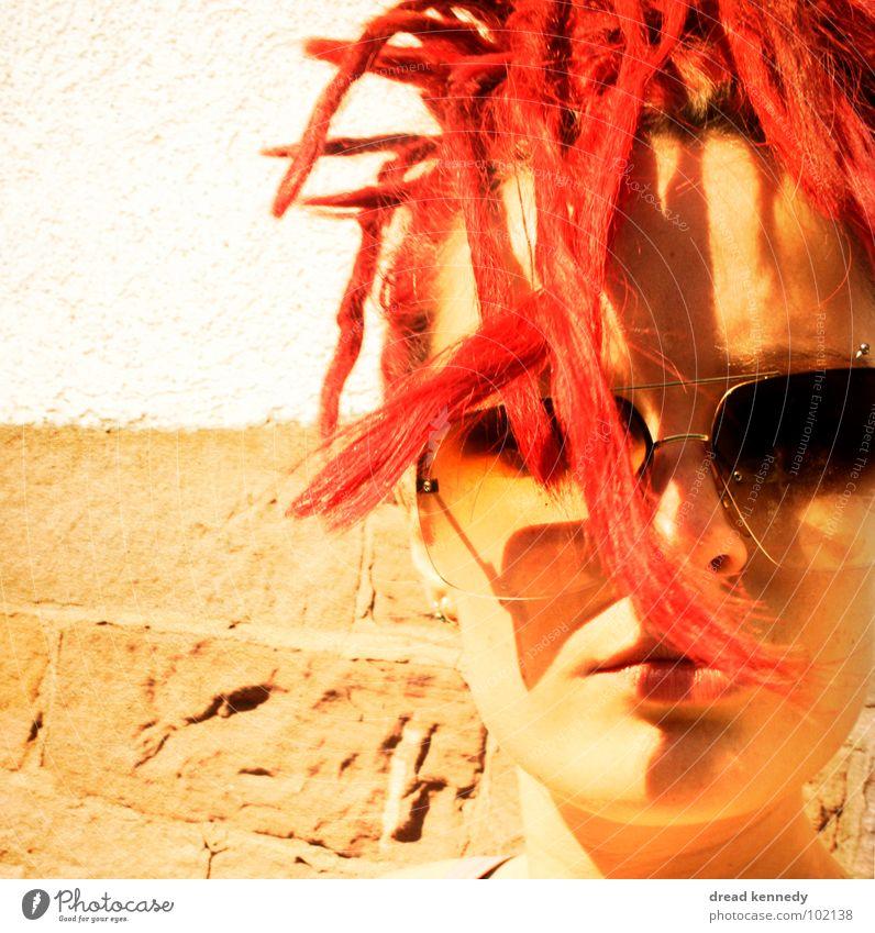 Dreaddy Mensch schön Sommer Gesicht Ferien & Urlaub & Reisen Erholung feminin Haare & Frisuren Zufriedenheit verrückt Coolness Lippen Sonnenbrille exotisch