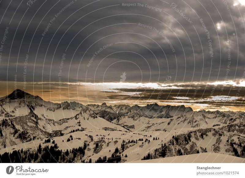 verdrängt Umwelt Natur Landschaft Himmel Wolken Sonnenaufgang Sonnenuntergang Winter Klima Klimawandel Wetter Schönes Wetter schlechtes Wetter Unwetter Schnee