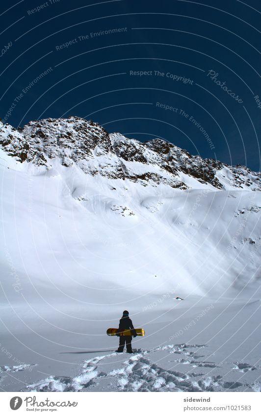 Der Berg ruft! Mensch Natur Ferien & Urlaub & Reisen Einsamkeit Landschaft ruhig Ferne Winter Berge u. Gebirge Schnee Sport Freiheit Felsen Eis Freizeit & Hobby