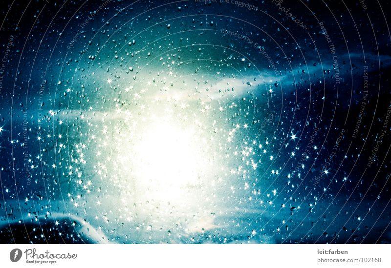 explosion in the sky schön Himmel Sonne blau Sommer Wolken gelb Lampe Regen glänzend Wetter Wassertropfen brennen Glaube blenden