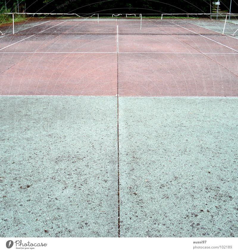 Ivan Lendl Gedenkcourt alt Freizeit & Hobby Netz verfallen Tennisnetz verrotten Ballsport Tennisball Grundlinie Tennisschläger