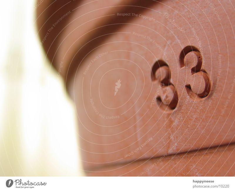 Terrakotta braun 3 Erde rund obskur Schalen & Schüsseln Topf Blumentopf Ton