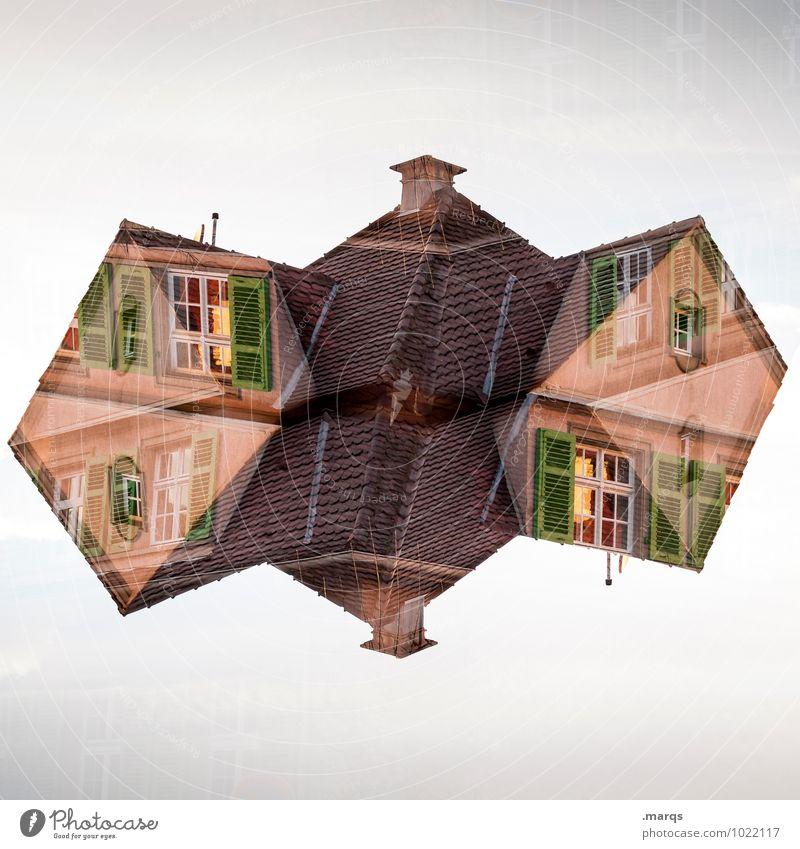 Origami Häusliches Leben Haus Einfamilienhaus Bauwerk Gebäude Architektur Fassade Fenster Dach Schornstein außergewöhnlich einzigartig verrückt Perspektive
