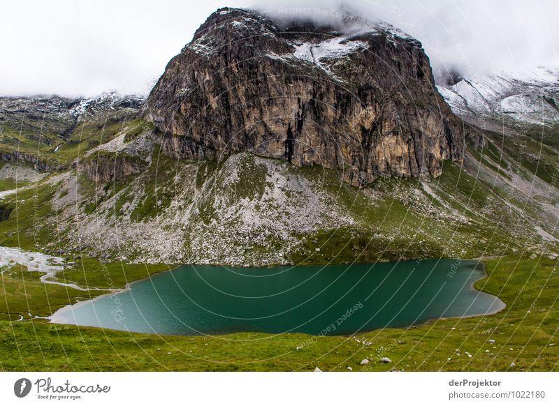 Berg---See Natur Ferien & Urlaub & Reisen Pflanze Sommer Landschaft Tier Ferne Berge u. Gebirge Umwelt Gefühle Freiheit Felsen Schneefall Tourismus Ausflug