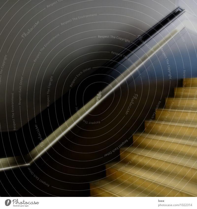 Handlauf Treppe ästhetisch eckig kalt grau schwarz silber Verlässlichkeit Gelassenheit geduldig Ordnungsliebe träumen Tod Zufriedenheit Einsamkeit elegant