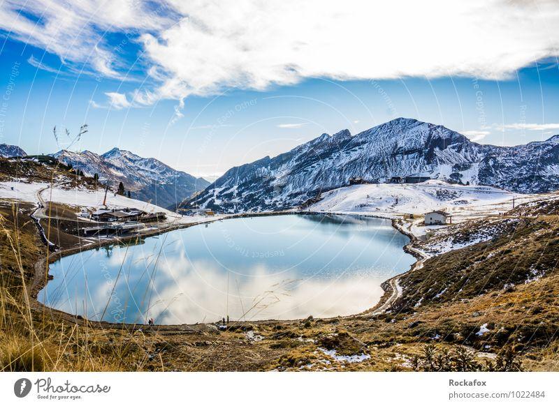 Bergsee Österreich Obertauern Himmel Natur Ferien & Urlaub & Reisen Sommer Erholung Landschaft ruhig Freude Ferne Winter Berge u. Gebirge Schnee Freiheit Felsen Tourismus Ausflug
