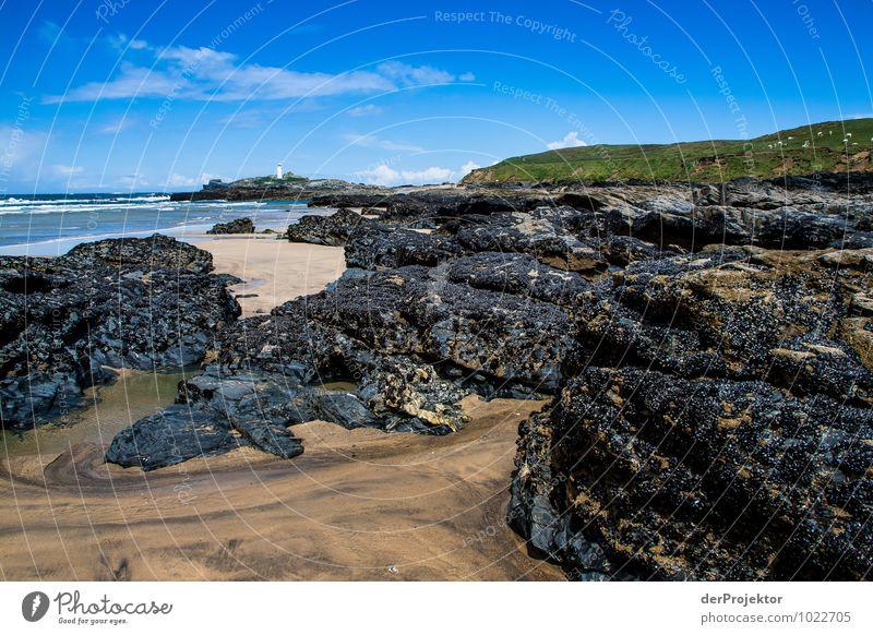 Mit Mühe sehe ich den Leuchtturm noch Natur Ferien & Urlaub & Reisen Pflanze Landschaft Tier Strand Ferne Umwelt Küste Frühling Freiheit Felsen Wellen Tourismus