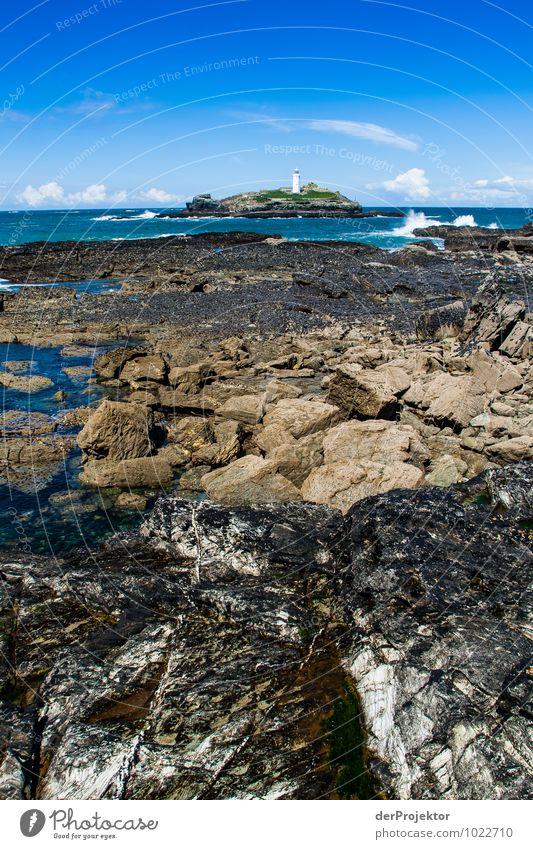 Granit und Leuchtturminsel Natur Ferien & Urlaub & Reisen Pflanze Meer Landschaft Tier Ferne Strand Umwelt Frühling Küste Freiheit Tourismus Wellen Verkehr