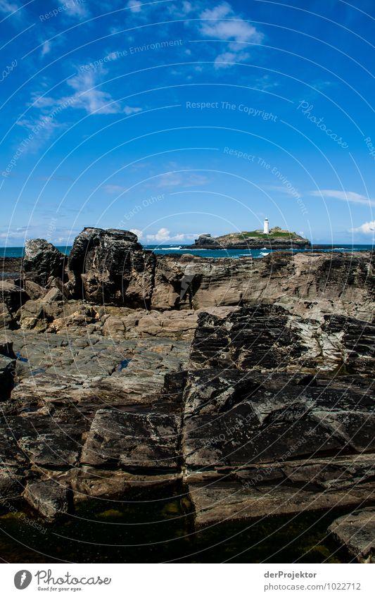 Granit und Leuchtturminsel Natur Ferien & Urlaub & Reisen Pflanze Meer Landschaft Tier Ferne Strand Umwelt Frühling Küste Freiheit Felsen Tourismus Wellen Insel