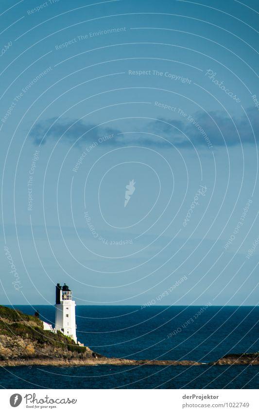 Weißer Leuchtturm Umwelt Natur Landschaft Pflanze Tier Urelemente Frühling Schönes Wetter Wellen Küste Seeufer Flussufer Bucht Nordsee Meer Insel