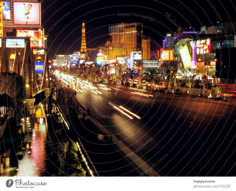 STRIP by night Straße USA Hotel Nacht Allee Nevada Striptease Nordamerika Las Vegas