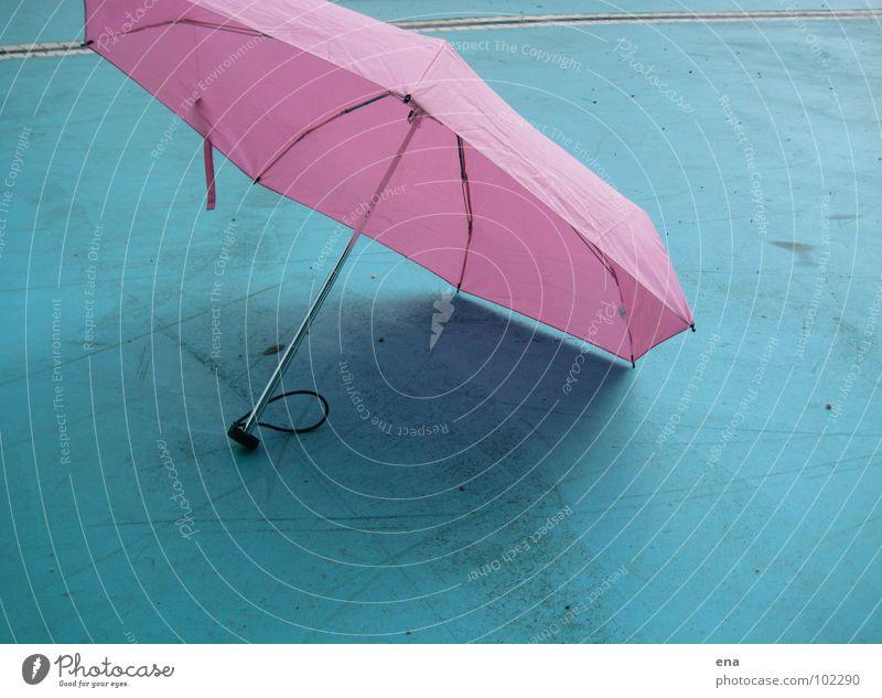 sonnenschirmchen III Natur blau Sommer Regen rosa nass Schutz Regenschirm Sonnenschirm trocken 7 Schattenspiel Thusnelda