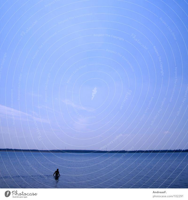 Baywatch Himmel blau Wasser Ferien & Urlaub & Reisen Sommer Strand Wärme See Schwimmen & Baden Physik tauchen kühlen Schwimmsportler Strandposten Bademeister