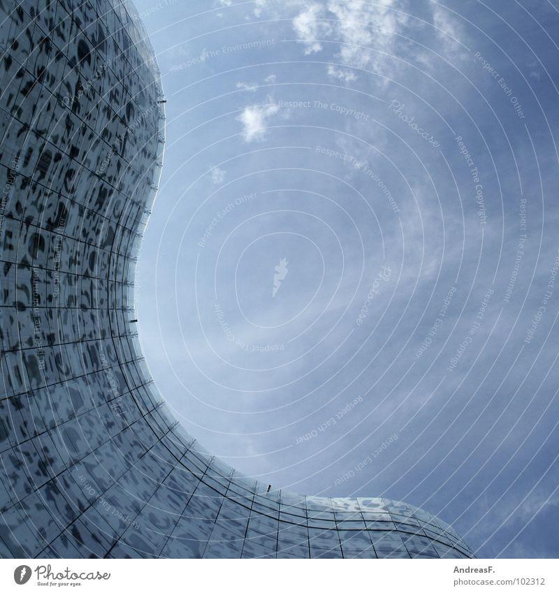 - IKMZ - Bibliothek Cottbus Studium Wellen Fassade Glasfassade modern BTU Architekt Künstler Himmel. Haus Herzog & de Meuron Architektur