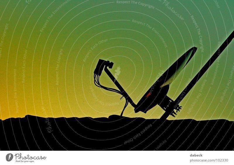 Signale... Himmel Technik & Technologie Kabel Dach Antenne Farbverlauf Elektrisches Gerät