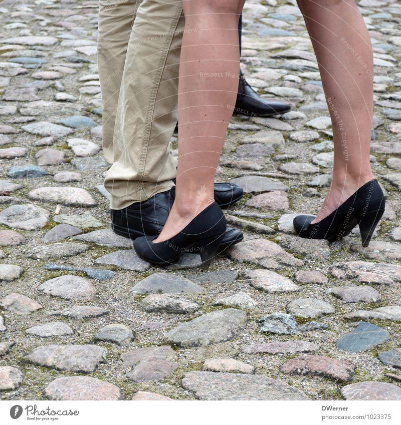 Beine Mensch Kind Jugendliche schön Junge Frau Erotik Junger Mann Straße Liebe feminin Stil Glück Lifestyle Mode Design