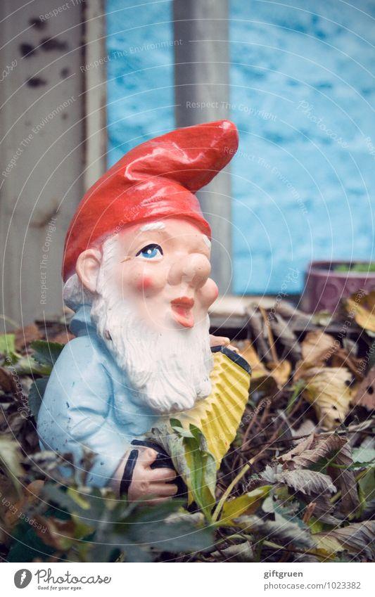 wir wollen spießer sein! Blatt Garten Deutschland Dekoration & Verzierung Kitsch Bart Skulptur altmodisch Spießer Zwerg Bieder stur Gartenzwerge penibel