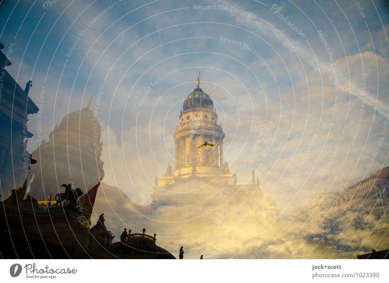 1200m Mitte Stadt Wolken außergewöhnlich fliegen träumen elegant Hoffnung historisch Kitsch Gelassenheit Geister u. Gespenster nachhaltig Reichtum Surrealismus