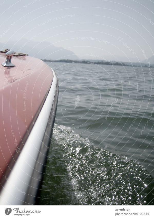 Prinzip Hoffnung Wasser Sommer See Wasserfahrzeug Wellen Schifffahrt Buhne Badeurlaub
