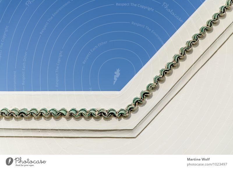 braided Himmel schön Wand Architektur Mauer Dekoration & Verzierung Afrika Marokko Rabat