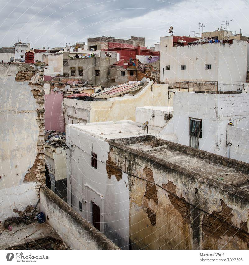 Salé Stadt Haus Häusliches Leben Afrika Stadtzentrum Altstadt Marokko Sale