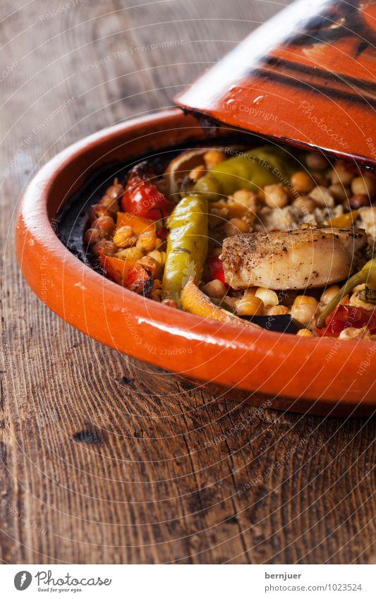 Roter Marrokaner Lebensmittel Foodfotografie Kochen & Garen & Backen gut Gemüse Bioprodukte Schalen & Schüsseln Fleisch Abendessen Möhre rustikal Chili Geflügel