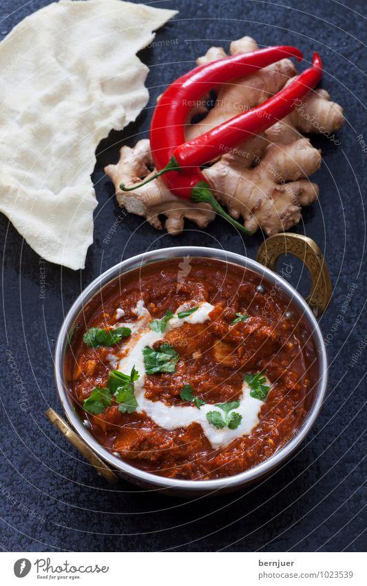 No hurry, chicken curry Gesunde Ernährung schwarz Lebensmittel Foodfotografie Scharfer Geschmack Kräuter & Gewürze Gemüse gut lecker Schalen & Schüsseln