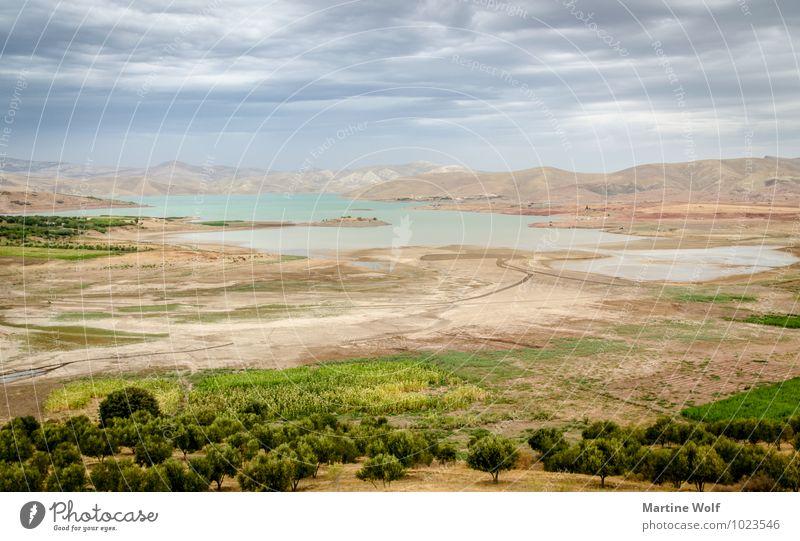 Barrage Sidi Chahed Natur Landschaft Wolken Berge u. Gebirge Atlas See Marokko Afrika Idylle Ferien & Urlaub & Reisen ruhig Ferne Farbfoto Außenaufnahme